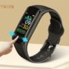 Kép 2/2 - Smart Bracelet V101 okosóra, vízáló, pulzus és szívritmusfigyelő, iOS és Android kompatibilis, fekete