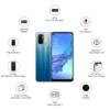 Kép 4/4 - Oppo A53 Mobiltelefon, Kártyafüggetlen, Dual Sim, 4GB/128GB, Fancy Blue (kék)