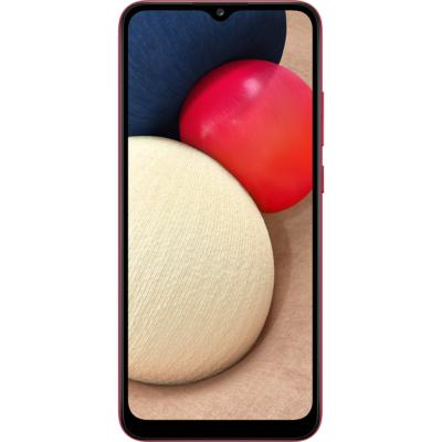 Samsung Galaxy A02S Mobiltelefon, Kártyafüggetlen, Dual Sim, 32GB, Piros