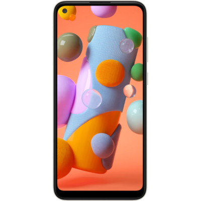 Samsung Galaxy A11 Mobiltelefon, Kártyafüggetlen, Dual Sim, 32GB, Fehér