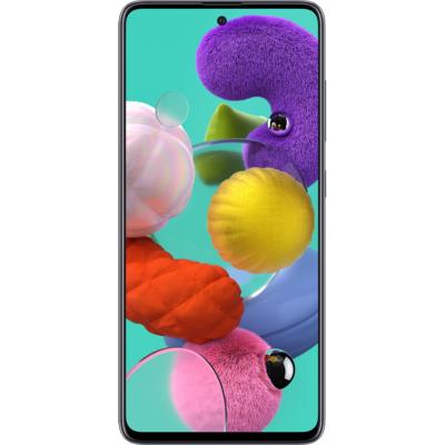 Samsung Galaxy A51 Mobiltelefon, Kártyafüggetlen, Dual Sim,128GB, Fekete