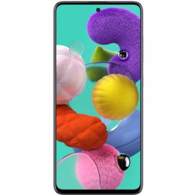 Samsung Galaxy A51 Mobiltelefon, Kártyafüggetlen, Dual Sim,128GB, Ezüst