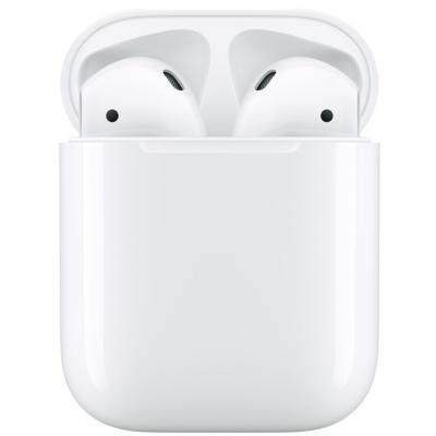 Apple AirPods2 vezeték nélküli gyári fülhallgató, vezetékes töltőtokkal