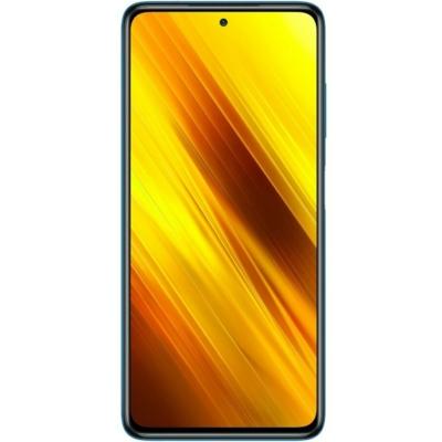 Poco X3 NFC Mobiltelefon, Kártyafüggetlen, Dual Sim, 128GB, Kék