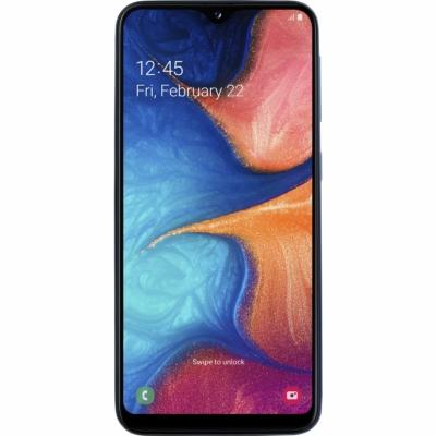 Samsung Galaxy A20E Mobiltelefon, Kártyafüggetlen, Dual Sim, 32GB, Kék