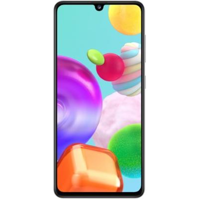 Samsung Galaxy A41 Mobiltelefon, Kártyafüggetlen, Dual Sim, 64GB, Fehér