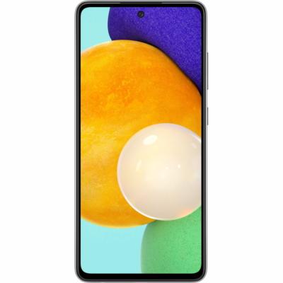 Samsung Galaxy A52 Mobiltelefon, Kártyafüggetlen, Dual Sim, 128GB, Fekete