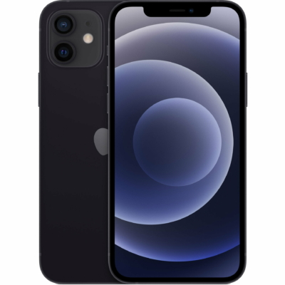 Apple iPhone 12 Mobiltelefon, Orange Függő, 64GB, Fekete