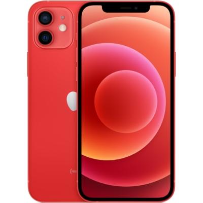 Apple iPhone 12 Mobiltelefon, Kártyafüggetlen, 64GB, Piros