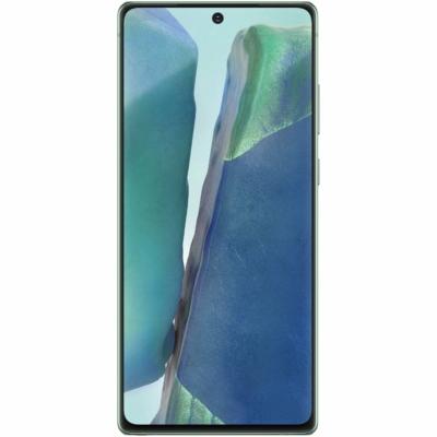 Samsung Galaxy Note 20 Mobiltelefon, Kártyafüggetlen, Dual Sim, 8GB/256GB, Mystic Green (zöld)