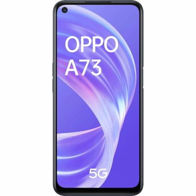 Oppo A73 5G Mobiltelefon, Kártyafüggetlen, Dual Sim, 8/128GB, Navy Black (fekete)