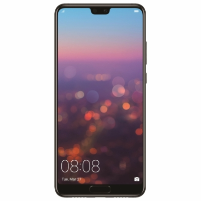 Huawei P20 Használt Mobiltelefon, Kártyafüggetlen, Dual Sim, 4GB/128GB, Black (fekete)