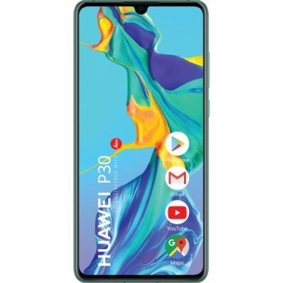 Huawei P30 Mobiltelefon, Kártyafüggetlen, Dual Sim, 128GB, Kék
