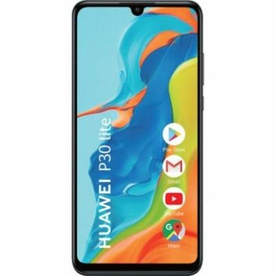 Huawei P30 Lite Mobiltelefon, Kártyafüggetlen, Dual Sim, 4/128GB, Midnight Black (fekete)