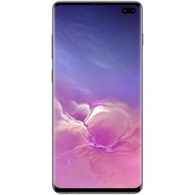 Samsung Galaxy S10+ Mobiltelefon, Kártyafüggetlen, Dual Sim, 8GB/128GB, Prism Black (fekete)