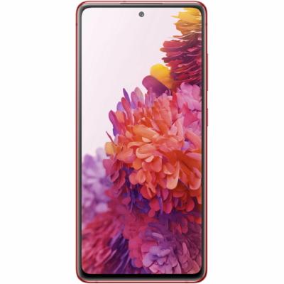 Samsung Galaxy S20FE Mobiltelefon, Kártyafüggetlen, Dual Sim, 128GB, Piros
