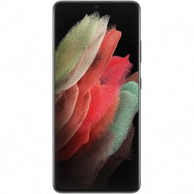 Samsung Galaxy S21 Ultra 5G, Mobiltelefon, Kártyafüggetlen, Dual Sim, 12GB/128GB, Phantom Black (fekete)
